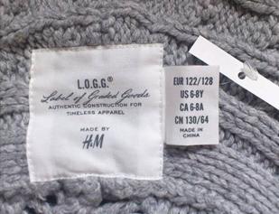 中国製のH&M 製品(筆者撮影)