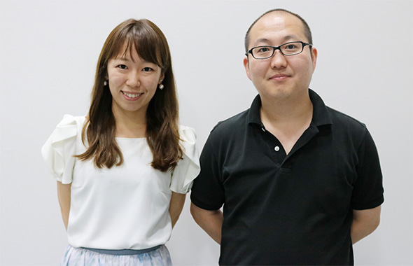 人工知能の研究をしている石山さん、柄川さん