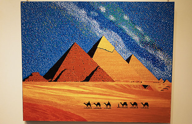 ピラミッドを描いた作品